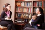 mom and baby at therapist - Mundahl Law, PLLC